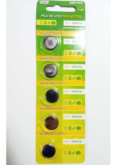 Paquete De 5pz Bateria Pila Boton Cr1616 3v - T1995