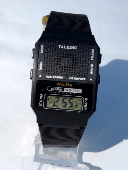 Relógio Talking Fala Horas Em Português Para Cegos