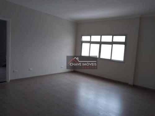 Apartamento Com 2 Dormitórios À Venda, 90 M² Por R$ 371.000,00 - Centro - São Vicente/sp - Ap2788