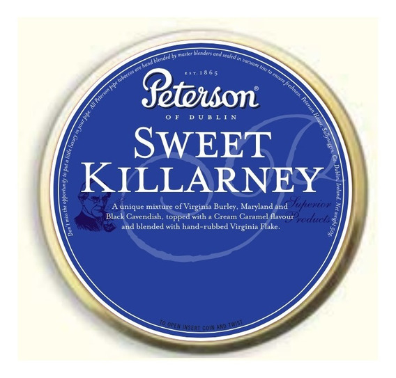 Tabaco Pipa Peterson Sweet Killarney Lata Para Pipas Tabaco