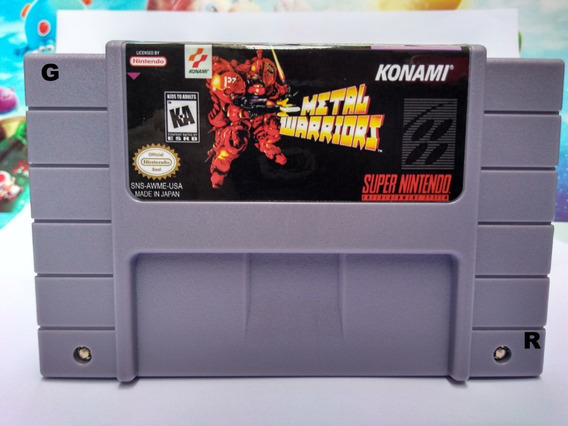 Fita Super Nintendo Metal Warriors Snes Fita Cartucho