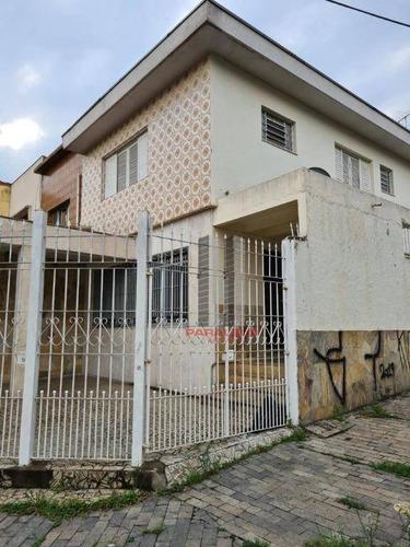Sobrado Com 3 Dormitórios, 213 M² - Venda Por R$ 850.000,00 Ou Aluguel Por R$ 4.000,00/mês - Mooca (zona Leste) - São Paulo/sp - So1510