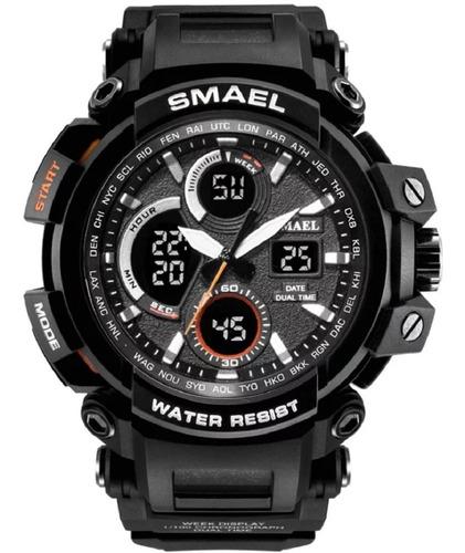 Relógio Masculino Smael Militar Prova D'água Digital Preto
