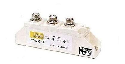 Imagen 1 de 2 de Semipack Tiristor Tiristor 55a 1200v Mtc55-12