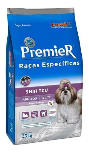 Ração PremieR Super Premium Raças Específicas Shih Tzu para cachorro adulto da raça pequena sabor frango em saco de 7.5kg