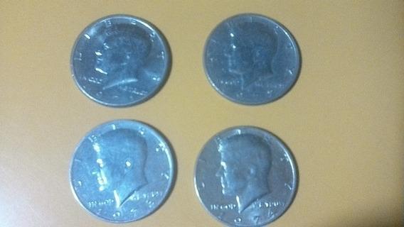 Moneda Kenedy Half Dollar Lote De 4 Pc 1971. 72.73 Y 74