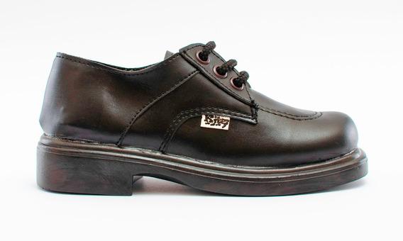 Zapatos Colegial Kiter Niño Eco Cuero 24 Al 33 Ff303