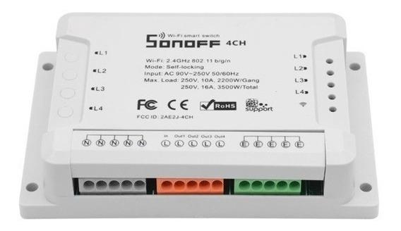 Sonoff Interruptor Wi-fi Automação Residencial 4 Canais 4ch