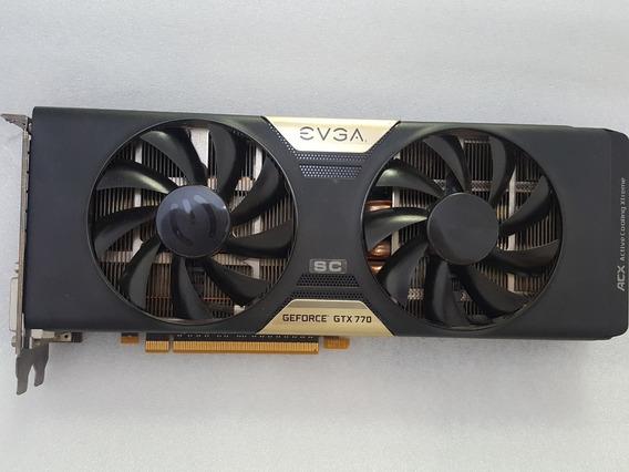 Placa De Video Pci Express Geforce Gtx 770 Sc Evga 2gb Ddr5
