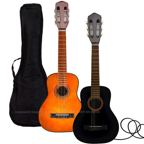 Guitarra Criolla Electroacustica Colores Niño + Funda + Pua