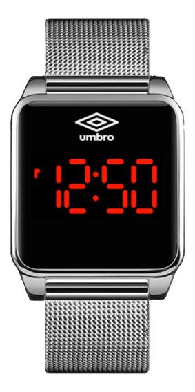 Relógio Umbro Digital Prateado Quadrado Touch Umb-51-s