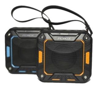 Parlante Portatil Pcbox Ackson Resistente Al Agua (naranja)