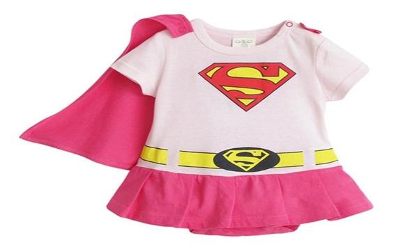 Supergirl Pañalero Niña Bebe Bebé Disfraz Superhéroes Dc Com