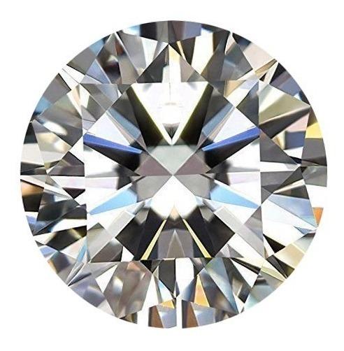 Moissanita Diamante Blanca F 6mm .84ct Mossainita