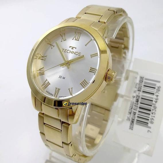 Relógio Feminino Technos Boutique Dourado 2035mku/4k 37mm