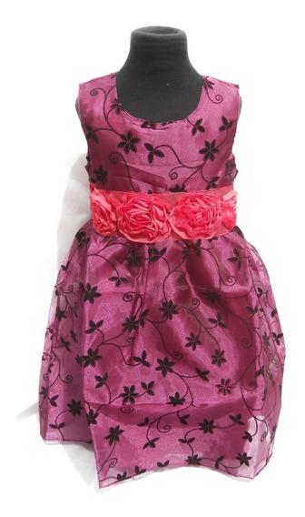 Vestido Fiesta Nena Purpura Uva Fucsia Cortejo