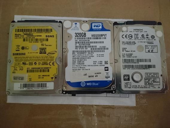 Hd Samsung 500gb + Hd Wd 320gb + Hd Hitachi 250gb C/ Defeito