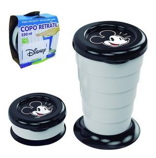 Copo De Plastico Retratil Mickey 330ml
