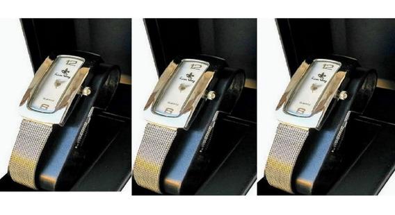 Kit 3 Relógios Feminino Original Luxo Atacado Revenda Lindos