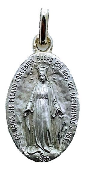 Medalla Escapulario Virgen Milagrosa Plata 925 Bautizó