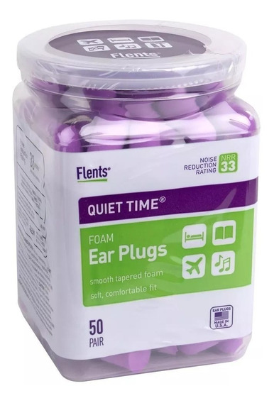 Protetor Auricular Flents Quiet Time Nrr 33 Db - 50 Pares