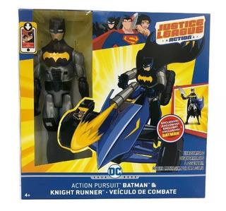Muñeco Figura Acción Batman Knight Runner Vehículo Combate