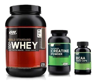 Kit Optmum Nutrition - Whey + Bcaa + Creatina - Importado Us