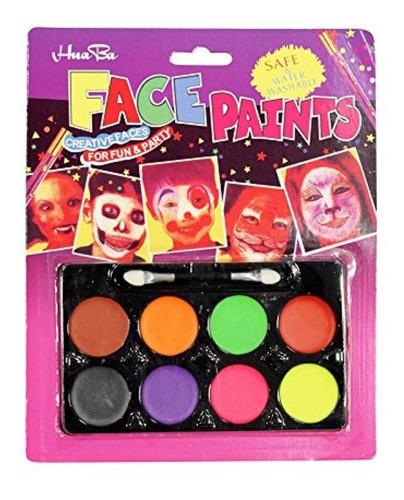 Maquillaje Artistico Pintura Paleta X 8 Halloween Semi 32grs