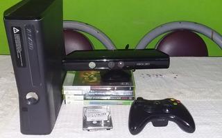 Xbox 360 Slim De 5gb + Disco Duro De 500gb + Kinect