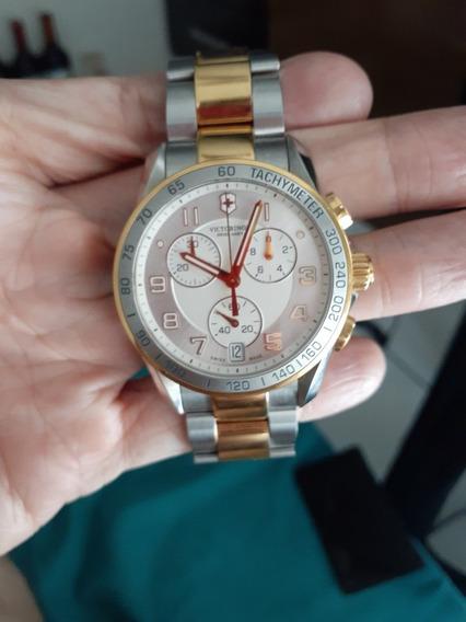 Relógio Victorinox Chrono Classic 241509 Original Usado