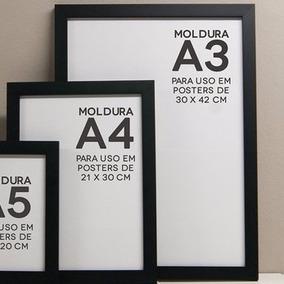Moldura Kit Com 06 Unidades Tam A3, =30x42cm,4cores Opcinal