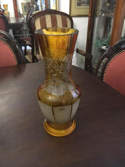 Vaso Cristal Âmbar