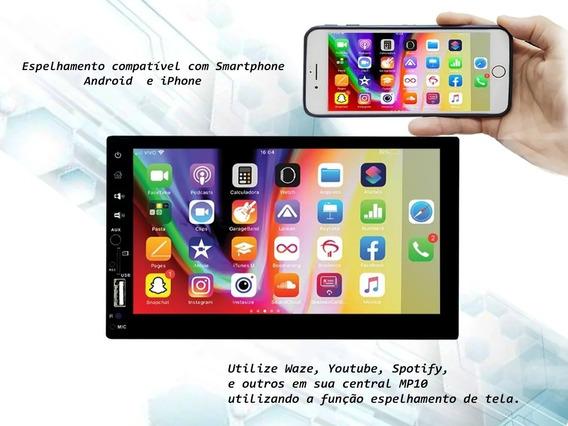 Central Multimídia Mp10 Esp. Android E Ios Usb Sd Full