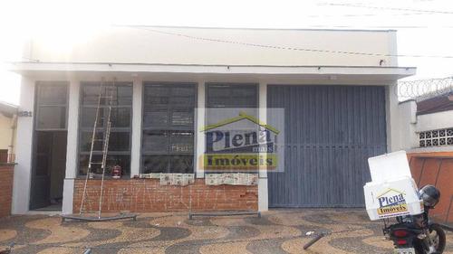 Salão Comercial Para Locação Com 280 M² - Vila Valle - Sumaré/sp - Sl0558