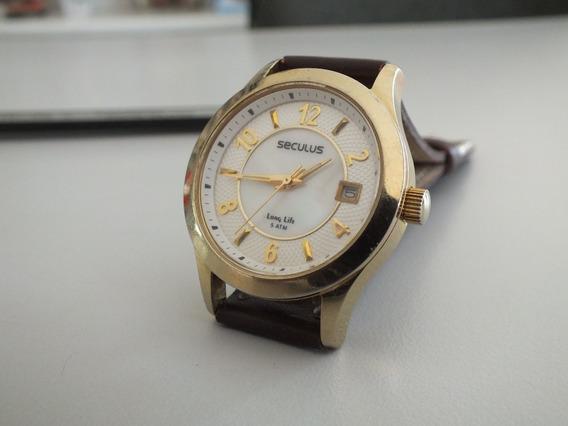 Relógio Seculus Feminino (mostrador Madre Perola)