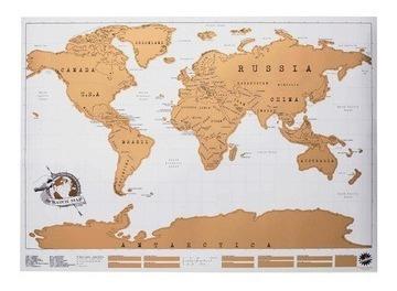 Scratch Map Mapa De Viajes Raspadita Mapamundi Original