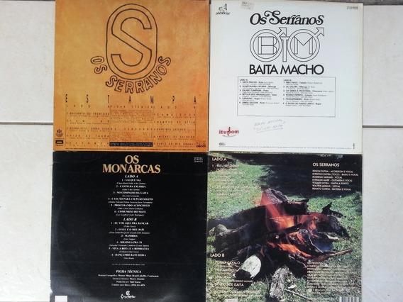 Discos De Vinil - Kit Com 4 Discos - 3 Serranos + 1 Monarcas