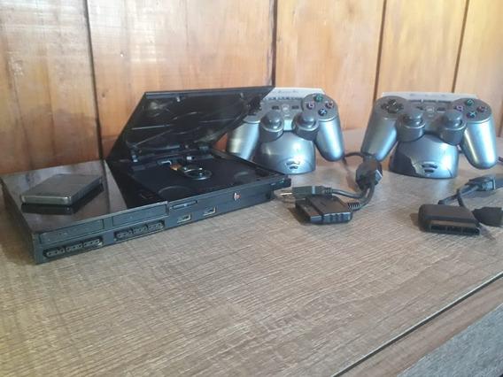 Playstation 2 + 2 Controles + 1 Memory Card + 50 Jogos