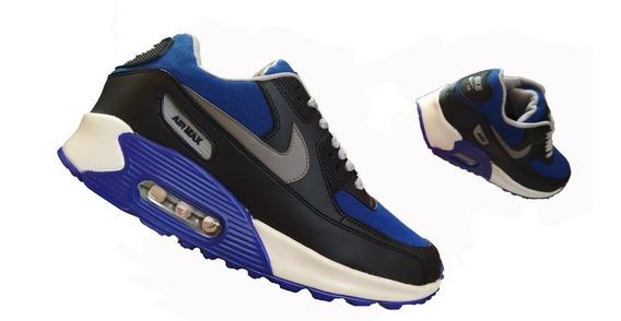 Nike Airmax 2019 Azul Con Negro