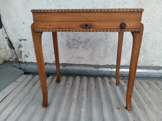 T-antiguo Mueble Vacio Cubiertero Madera Art Deco 65 X 48 X 67 Alto A Reciclar