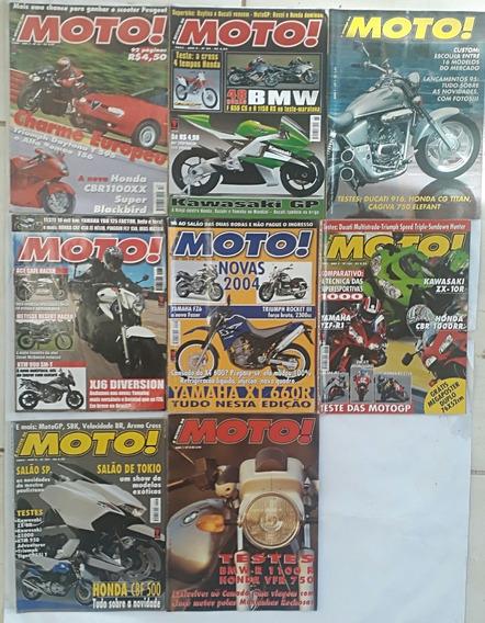 A Revista Moto Com 8 Revista Antigas E Rara Frete Grátis
