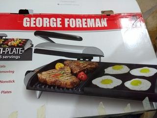 Parrilla Electrica George Foreman Gf20g Combo Parrilla /