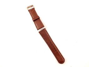 Pulseira Para Relógio Em Couro Marrom 24mm Masculina B5374