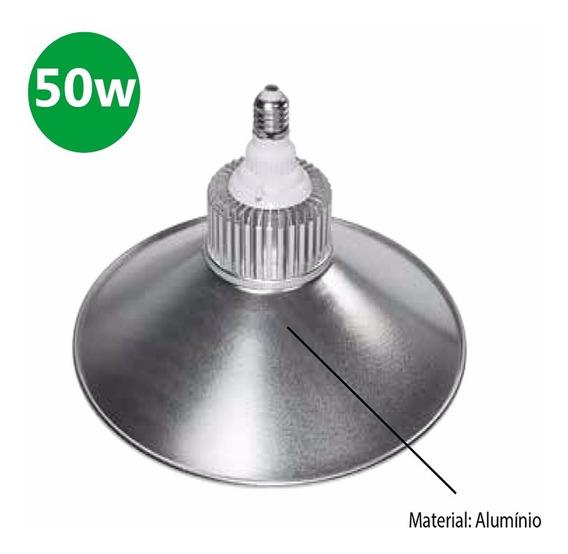 Luminária De Led P/ Galpao Industrial 50w 3750 Lm Bocal E40