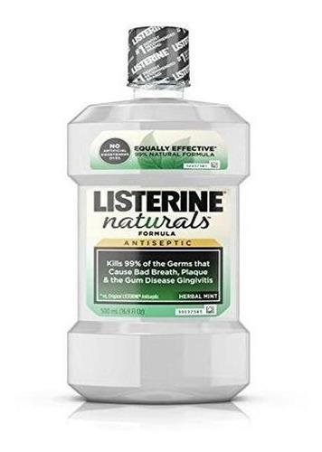 Enjuague Bucal Antiseptico De Listerine Naturals, Menta Herb