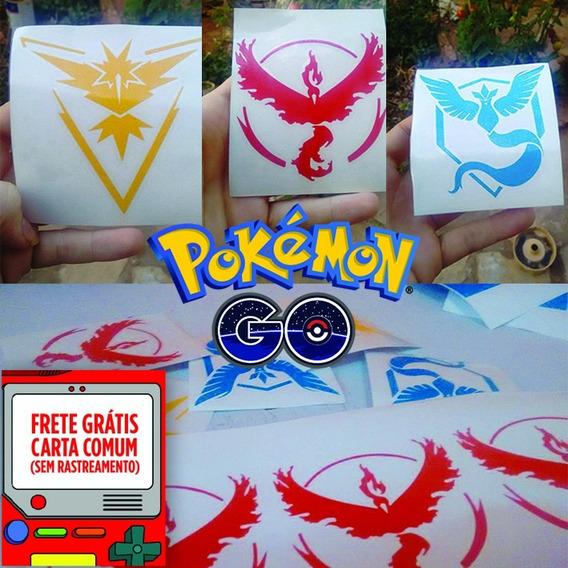 10 Adesivo De Carro Pokemon Go Times Instinct Valor Mystic