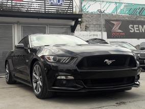 Ford Mustang 5.0l Gt V8 At 2016 Negro, Tomo Auto, Credito!!