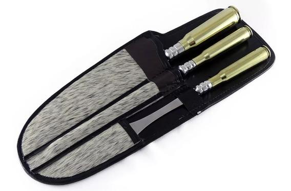 Conj. N°10 Chaira,garfo Aço Inox Cb Cartucho .50 E 30mm