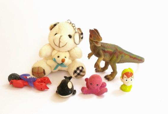 Lote De Brinquedos Brindes Dinossauro Chaveiro Baleia Polvo
