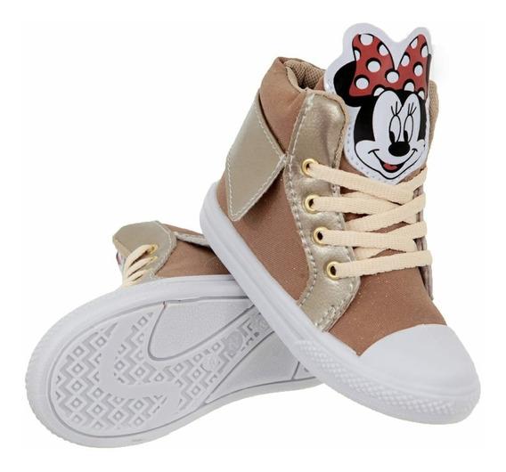 Botinha Tênis Infantil Minnie Disney Promoção